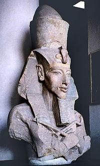Statue von Echnaton im Musem von Kairo