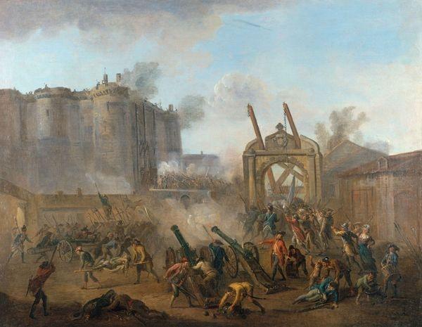 La prise de la Bastille le 14 juillet 1789. Jean-Baptiste Lallemand. Copyright © © Musée Carnavalet / Roger-Viollet