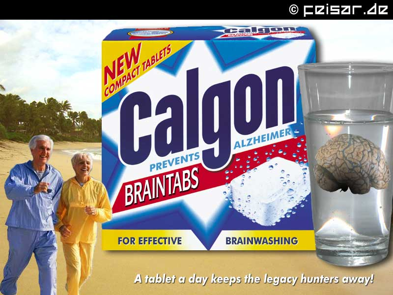 NEW COMPACT TABLETS Calgon BRAINTABS PREVENTS ALZHEIMER FOR EFFECTIVE BRAINWASHING A tablet a day keeps the legacy hunters away!