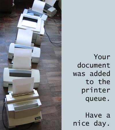 how to cancel printing in queue